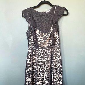 Parker New York Black Lacy Midi Dress for Women